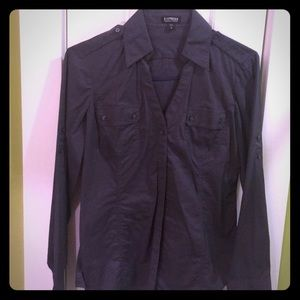 Military style button down charcoal grey M